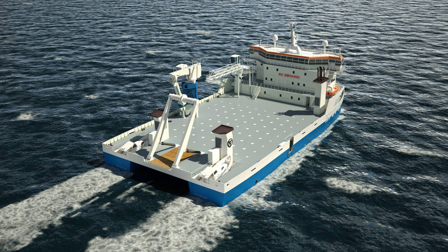 The lean vessel with huge deck-space
